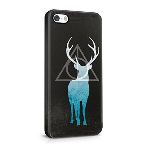 Harry Potter y las Reliquias de la muerte patronus Charm iPhone 5/5S Plástico Duro Teléfono cubierta de la caja