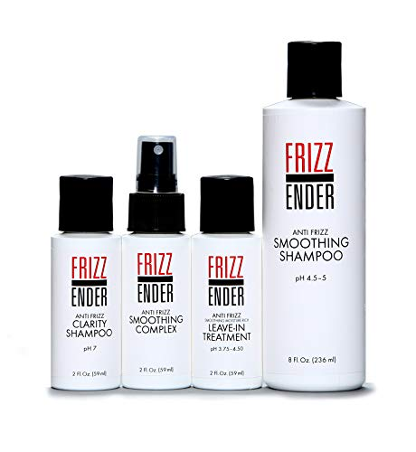 Frizz Ender - Anti Frizz Salon Quality Hair Treatment Kit for Professional Results - Control Frizzy Hair for Up to 4 Weeks! (Best At Home Keratin Smoothing Treatment)