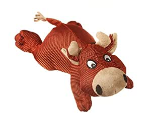 Multipet Dazzler Cow Durable Plush Dog Toy