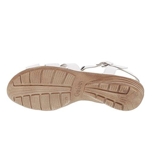 Verano Gabor Del sandalias Blanco sandalias Cuña 550 24 plana sandalias best cómodo Cuña zapatos Fitting übergrößen Mujer De CSwCqFPg