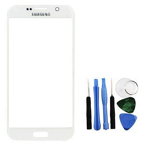 Amazon com: BisLinks® White Front Glass Lens LCD Repair + Tools Part
