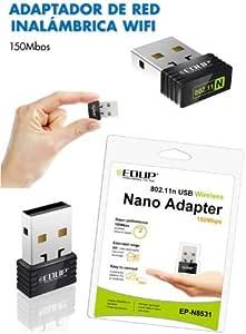Antena WIFI USB adaptador para ordenador Portatil: Amazon ...