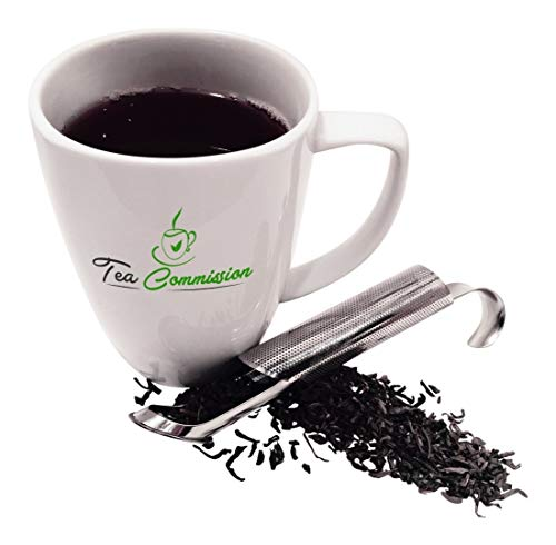 Tea Commission Tea Infuser Steeper Strainer Stick Pipe, Premium Extra Fine Mesh Stainless Steel Filter for Loose Leaf, Herbs or Spice, Eco-Friendly Gift or Single Cup Brewer by Tea Commission (Image #2)