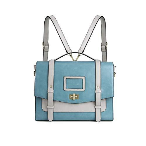 ECOSUSI Ladies Faux Leather Briefcase Shoulder Laptop Messenger Bags Satchel Bag Cambridge Backpack Fit 14
