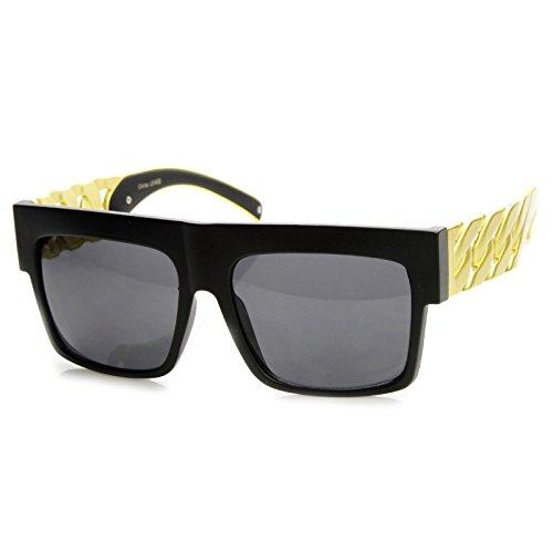 MLC EYEWEAR Retro Old School Thick Metal Coating Chain Sunglasses