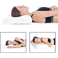 SHOPPOSTREET Orthopaedic Memory Foam Pillow Neck and Back Support Pillow Cervical Pillow for Neck Pain with Removable Zipper Cover Side Sleepers Neck Pillow for Pain Relief