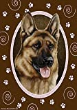 "German Shepherd Pink Paw Garden Flag 28"" x 40"" For Sale"