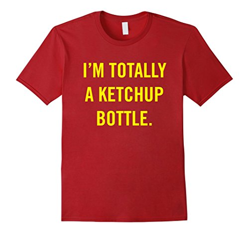 Ketchup Bottle Costume (Mens Easy Halloween Costume - Im Totally a Ketchup Bottle tshirt XL Cranberry)