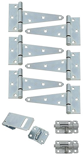(Stanley Hardware S157-500 9PC Shed Kit in Zinc)