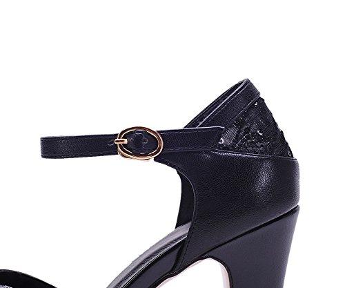 Adee , Damen Sandalen, schwarz - Schwarz - Größe: EU 35