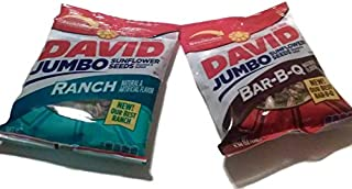 product image for David Jumbo Sunflower Seeds, 5.25 Oz, Variety Bundle Pack (Pack of 4) Includes 2-pack Ranch Sunflower Seeds + 2-pack Bar-b-q Sunflower Seeds