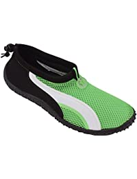 Mens Striped Water Shoes (Green/White Size 12)