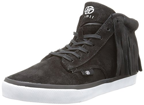 Radii Men's Basic Fashion Sneaker, Jet Wolverine Suede Tassel, 12 M US