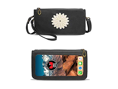 Traditional (Touch Screen) Cell Phone Purse with Zipper and two Pockets - Midnight Black by Save the Girls Touch Screen Purses (Image #3)