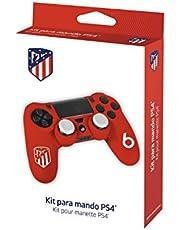 Accessoireset voor PS4 controller met beschermhoes/hoes van siliconen, zweetbestendig en Thumb Grips voor joystick Atletico de Madrid ATM n°6