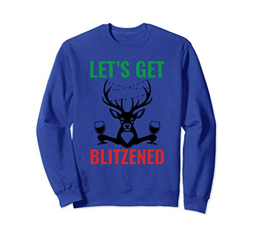 Christmas Blitzened Design Sweatshirt