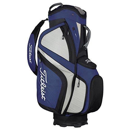 Titleist 2014 Lightweight Cart Bag: Black-Navy-Grey - Titleist 14 Way Cart Bag
