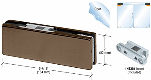 Dark Bronze Top Door Patch Fitting with 1NT304 Insert by CR Laurence