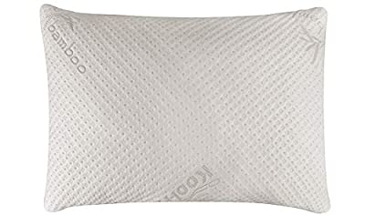 Elegant Comfort Ultra-Luxury Bamboo Shredded Memory Foam Adjustable Fit and Zipper Removable Flow Rayon Breathable Cooling Hypoallergenic Pillow Cover by Relief-Mart, Inc.
