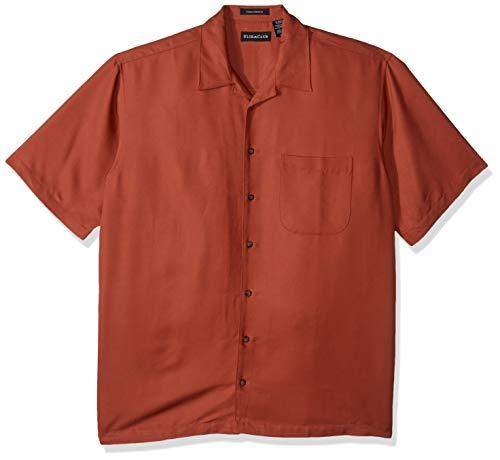 UltraClubs Men's ULTC-8980-Cabana Breeze Camp Shirt, Brick, Large