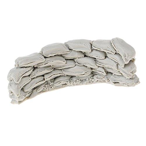 Baoblaze 1:35 Scale Resin WWII Soldier Model Sandbags Wall DIY Scenery Accessories (Wwii Sandbag)