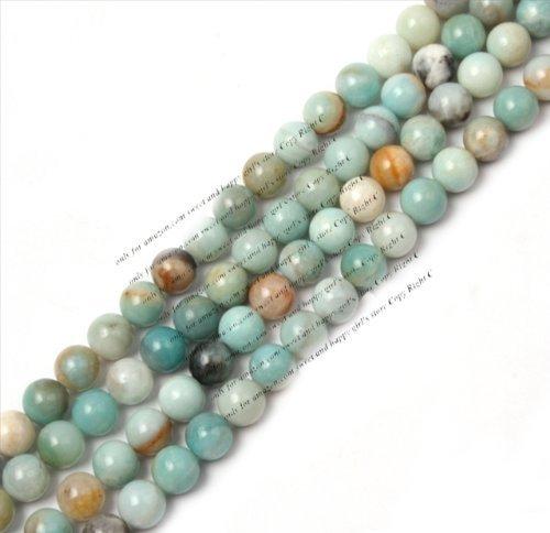 4mm Round Mixed Color Amazonite Stone Gemstone Beads Strand 15 Inch Jewelry Making Beads