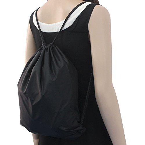 Creazrise Women Backpack,Womens Drawstring Canvas Backpack Floral Print Shoulder Bag (Black A)