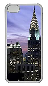 Customized iphone 5C PC Transparent Case - Chrysler Building01 Cover