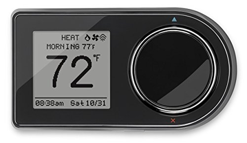 Tstat Programmable - Lux Products GEO-BL Wi-Fi Thermostat, Black