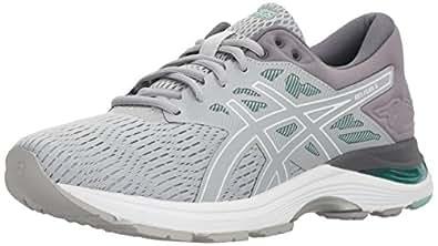 ASICS Womens Gel-Flux 5 Running Shoe, Mid Grey/White/Opal Green
