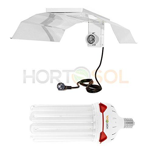 HORTOSOL ESL Set 200w 6400k Wuchs Energiesparlampe + Reflektor