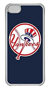 Creative GOOD 5C Case, iPhone 5C Case, Personalized Hard PC Clear Shoockproof Protective Case Cover for New Apple iPhone 5C - Baseball New York Yankees