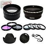 58mm Pro Slr Lens Kit for Canon Digital EOS Rebel series of Dslr Cameras - Including Wide Angle Lens, 2x Telephoto Lens, 3pcs Filter Kit, Hard Lens Hood, Lens Cap & Much More!!