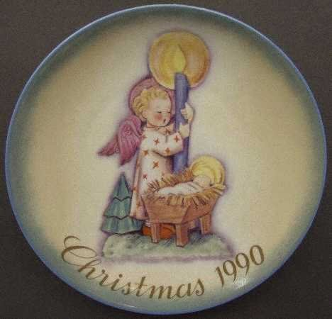 (Schmid Hummel ** 1990 Christmas Plate - Angel's Light ** 177-159)