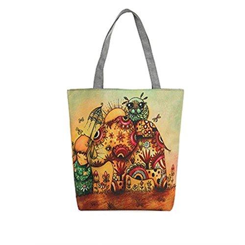 portafoglio a fiore della Multicolore1 pittura borsa Dunland A46 tracolla tracolla Tela elefante Donne Multicolore7 in tela a 4wfSRUx