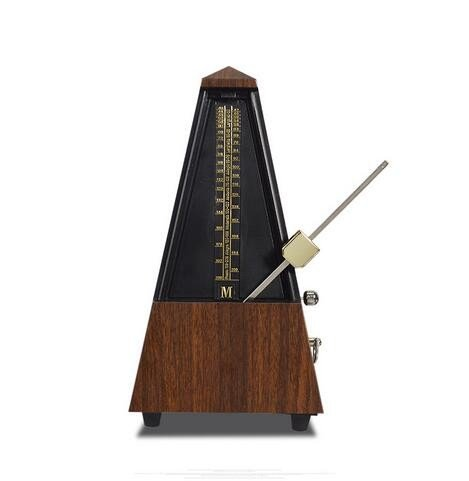 Oask Mechanical Metronome,WSM-330 Loud Sound,Professional High Accuracy Tempo Range 40~208bpm for Guitar, Piano, Drums, Bass, Violin,and Other Musical Instruments,Pyramid Design (Teak Tower)