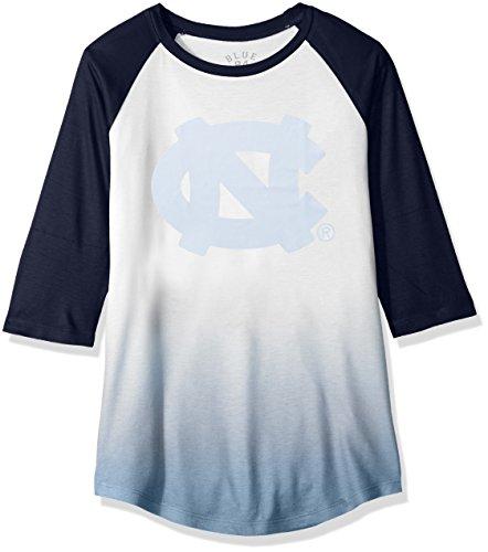 NCAA North Carolina Tar Heels Adult Women NCAA Women's Sublimated Baseball Tee,Large,Navy