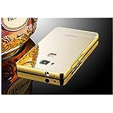 Taslar Luxury Mirror Metal Series Bumper Back Cover Case For Huawei Honor 5X (Gold)
