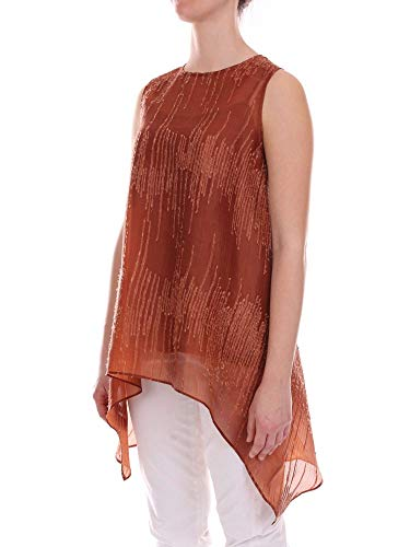 Marron Power Top 122brown Femme Colour 5 Soie AIqOwYU5n
