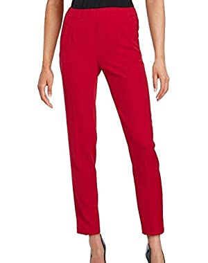 Calvin Klein Women's Petite Pleated Dress Pants Red 12P