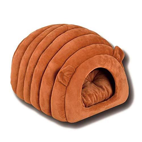 Camas para mascotas para perros medianos/pequeños zona de dormir mascotas cueva cama camas para gatos,Brown