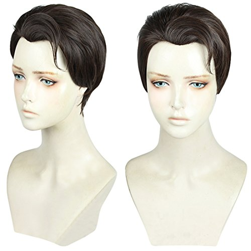 Price comparison product image Cfalaicos Short Brown Cosplay Wig with Free Wig Cap (Need Style by Yourself)