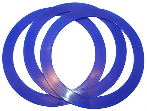 Higgins Brothers Juggling Rings Set of 3 Professional Style (Navy Blue)