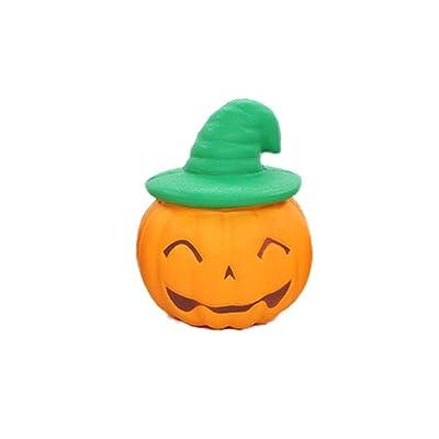 Amosfun Juguete de Calabaza Suave de Halloween Sombrero mágico de Dibujos Animados Juguete de Mano de Calabaza Juguete de Truco de Broma de Terror para Adolescentes niños Adultos (Color Aleatorio): Juguetes y juegos