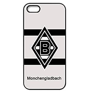 3D Customized Monchengladbach Theme Football Club Logo Photo Hard Black Plastic Slim Cellphone Cover For Iphone 4