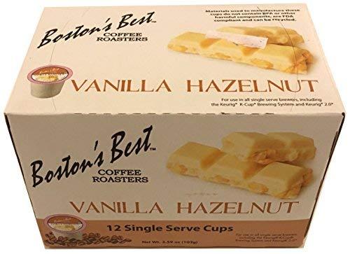 Boston's Best Coffee Roasters: Vanilla Hazelnut 12 Single Serve Cups