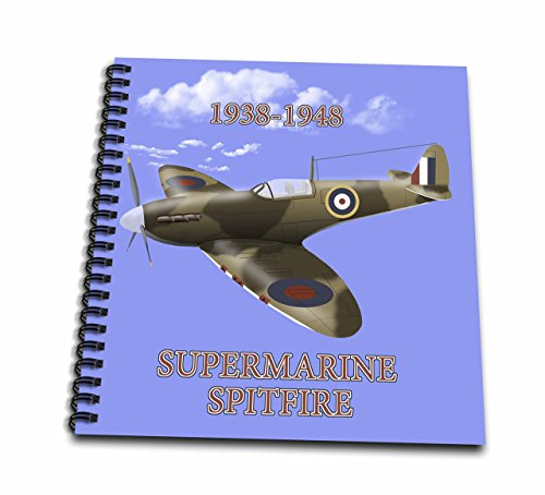 - 3D Rose Supermarine Spitfire. British Royal Air Force Fighter WW2 in Battle Colors Drawing Book