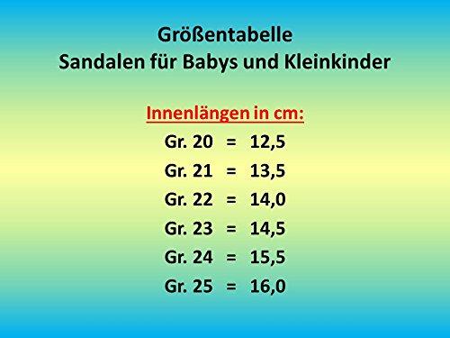 Art Gr gibra Sandalen f/ür Babys und Kleinkinder mit Fu/ßbett Dunkelblau//Rot 5247 20-25