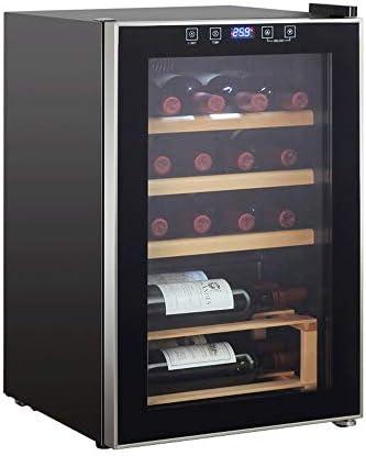 JJSFJH Termoeléctrico Rojo y Blanco Vino de Refrigeración/Chiller Mostrador Bodega con Digital Pantalla de Temperatura, Independiente Nevera Nevera Funcionamiento silencioso