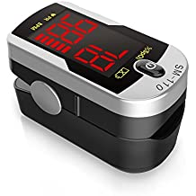 Deluxe SM-110 Two Way Display Finger Pulse Oximeter with Carry Case and Neck...